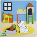 Dřevěné puzzle, dětský pokoj
