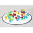 50 transparentních geometrických tvarů na světelný panel