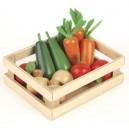 Tidlo Dřevěná bedýnka se zeleninou