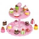 Tidlo Růžový patrový talíř s dortíčky