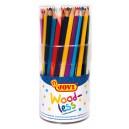 Nedřevěné pastelky trojhranné 84ks 12 barev