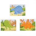 Puzzle 3v1 dinosauři