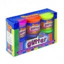 Temperové barvy Glittrové 6 x 55ml + štětec