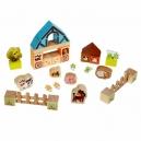 Farma - dřevěná stavebnice s kartonovými doplňky