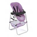 Vysoká židle pro panenky -  světle fialová