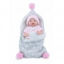 Panenka - koupací miminko New Born holčička s fusakem - 21 cm