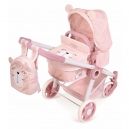 Skládací kočárek pro panenky 3 v 1 s batůžkem Little Pet 2020 - 70 cm