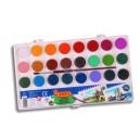 Vodové barvy 24 barev + štětec