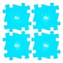 Ortopedická podlaha - Stopy modrá barva