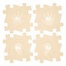 Ortopedická podlaha - Stopy béžová barva