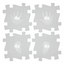 Ortopedická podlaha - Stopy stříbrná barva