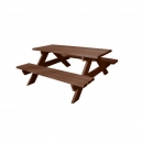 Dřevěná sedací souprava dětská - hnědá (MD)