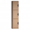 Šatní skříň - 3 BOXY - 30X187X45 CM (MD)