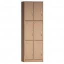 Šatní skříň - 6 BOXŮ - 60X187X45 cm (MD)
