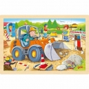 Staveniště – dřevěné puzzle, 24 díly