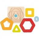 Vícevrstvé puzzle – geometrické tvary, 5 dílů