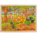 Zvířecí děti v lese – dřevěné puzzle, 48 dílů