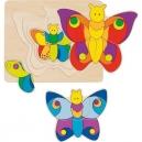 Vícevrstvé puzzle – Motýlek, 11 dílů