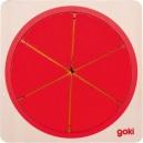 Vícevrstvé puzzle – Kruh, 6 vrstev, 21 dílů