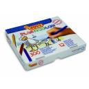 Pastelky Plasticolor 12 barev, 300 kusů - kulaté