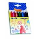 Plastové pastelky 12 ks